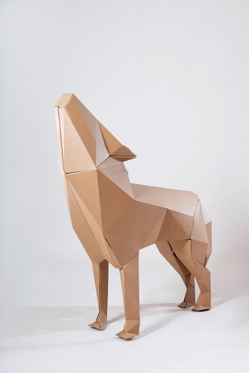 Как сделать волка из картона своими руками